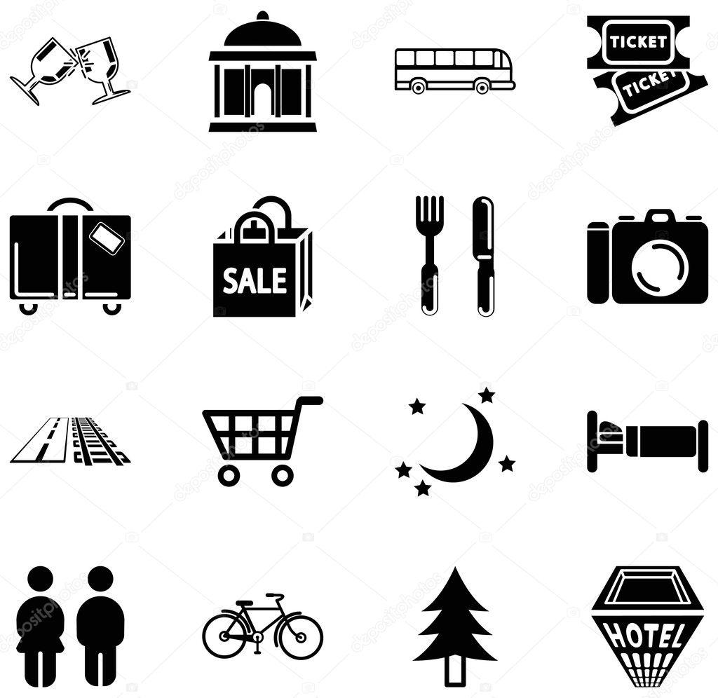 Location Tourism Icons