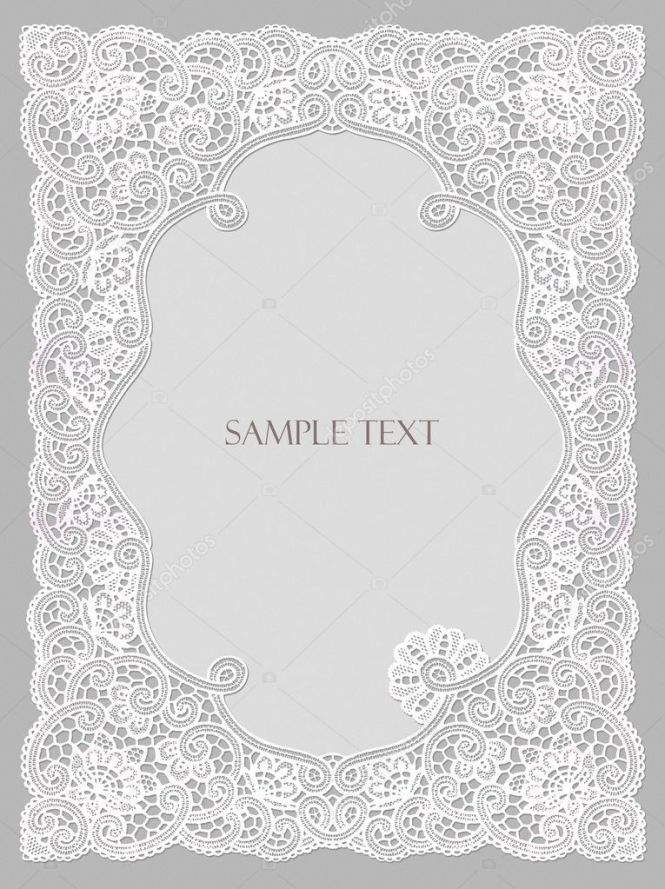 wedding invitation frame lace stock photo art321 6599670