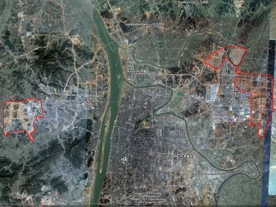 Already twice as big as Los Angeles, CHANGSHA is expanding rapidly to the east and the west