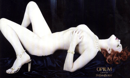 Apparently Yves Saint Laurent hadn't learned their lesson from this banned ad which received 730 complaints in 2000.