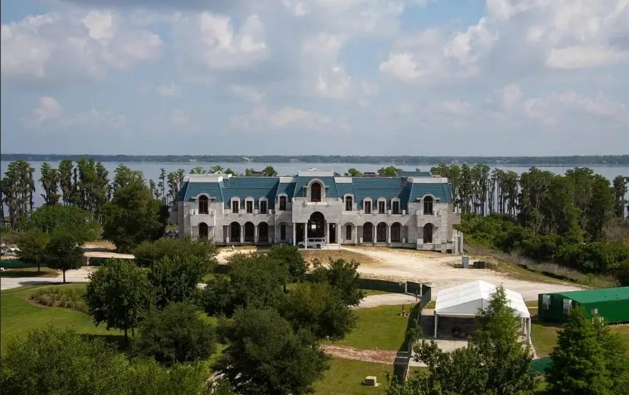 VERSAILLES, WINDERMERE, FLA.: 90,000 square feet. Versailles is the largest private home in America, but it's still under construction. The mega-mansion is on sale for $75 million as is or $100 million complete.