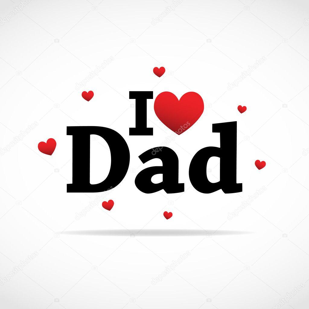 Download I love Dad icon. — Stock Vector © burakowski #7217590