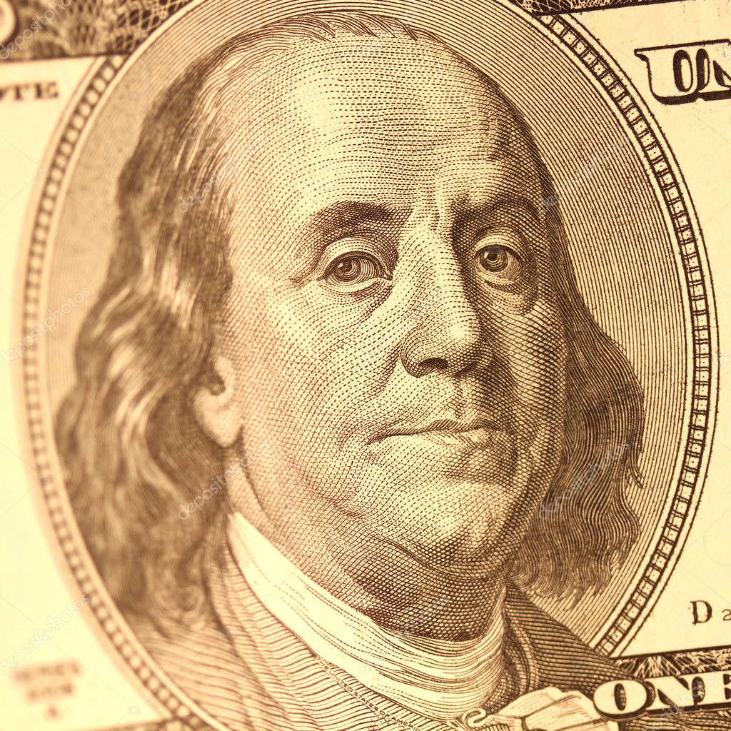 Close Up View Of The Benjamin Franklin Portret
