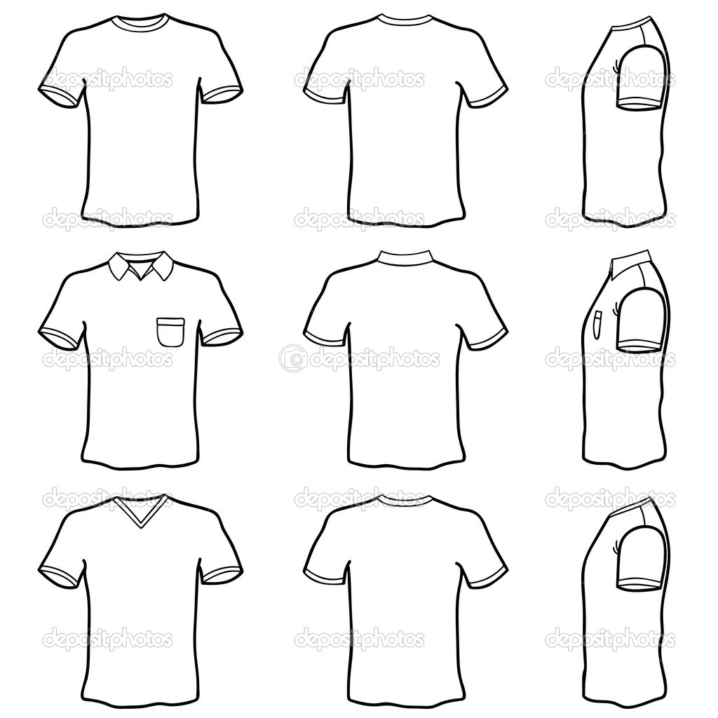 Blank Tshirt Coloring Page Coloring Pages