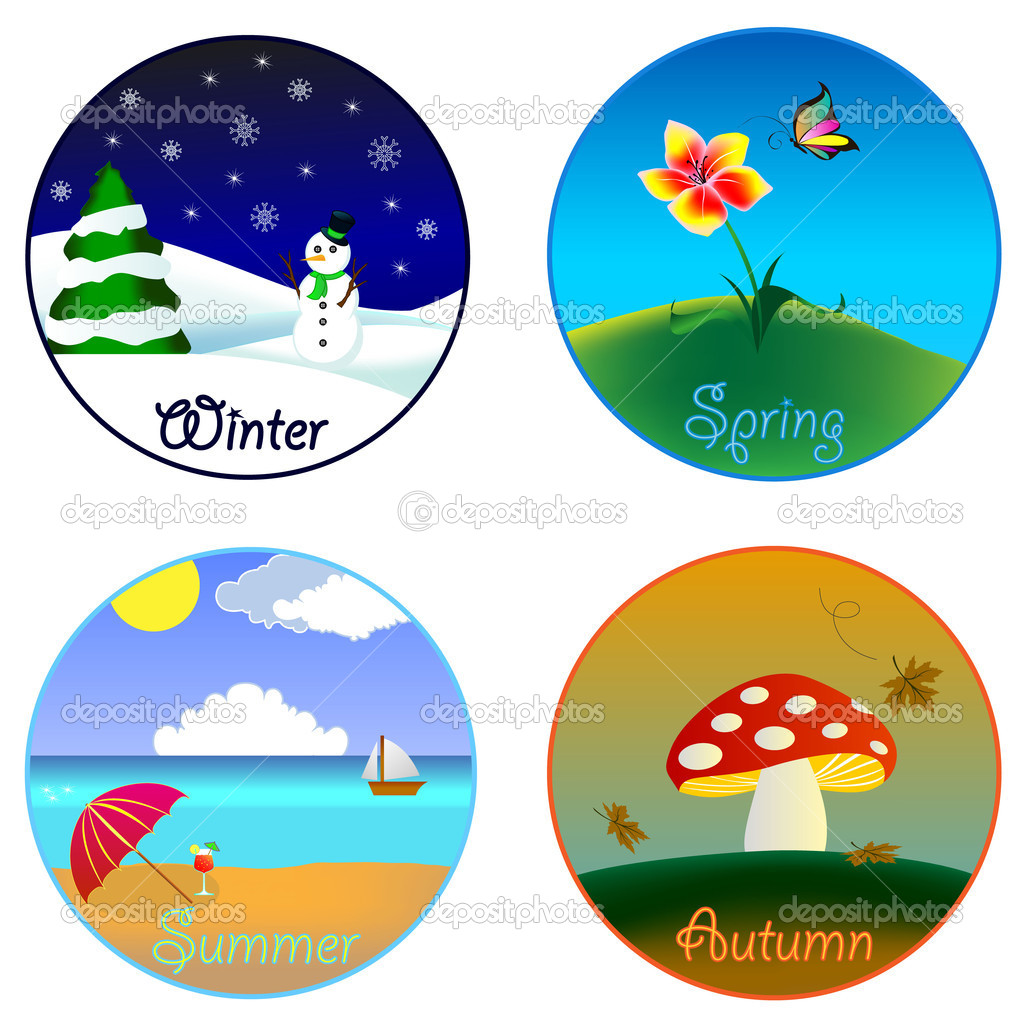 The Four Seasons Winter Spring Summer And Autumn