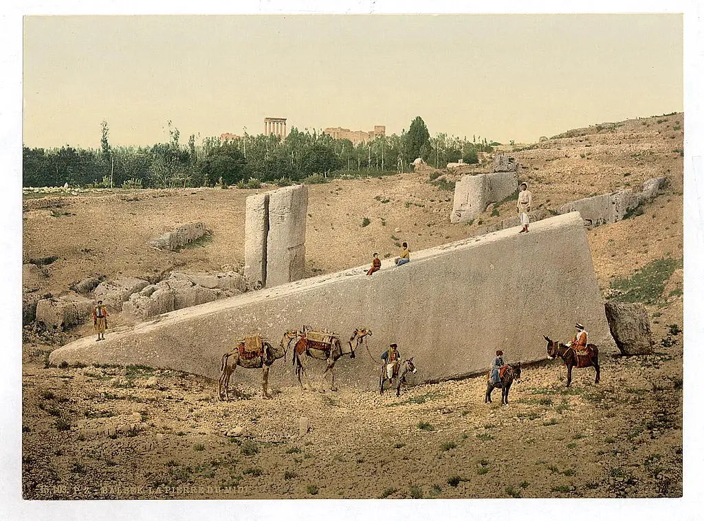 The landscape is littered with ruins. Here is the Temple of the Sun in Baalbek