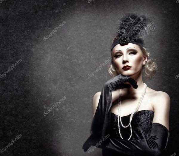 Женский портрет ретро 30х годов xx века