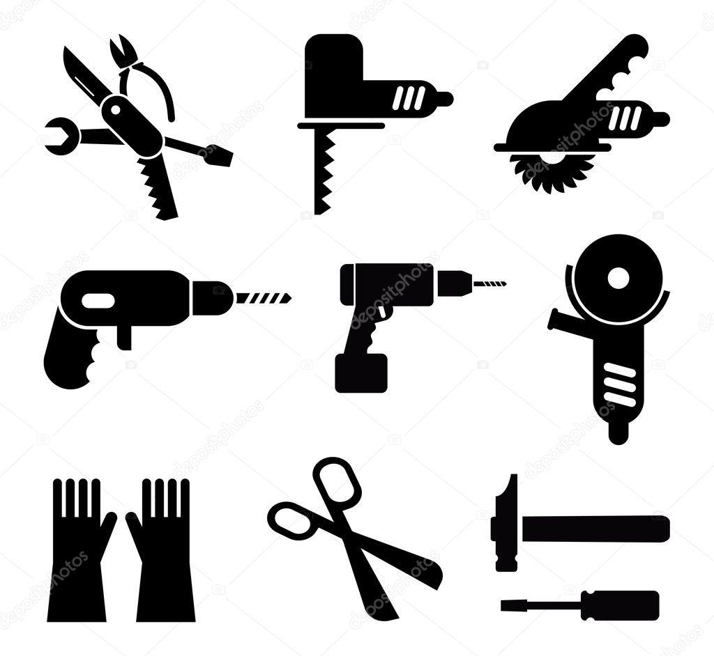 Werkzeuge Icon Set