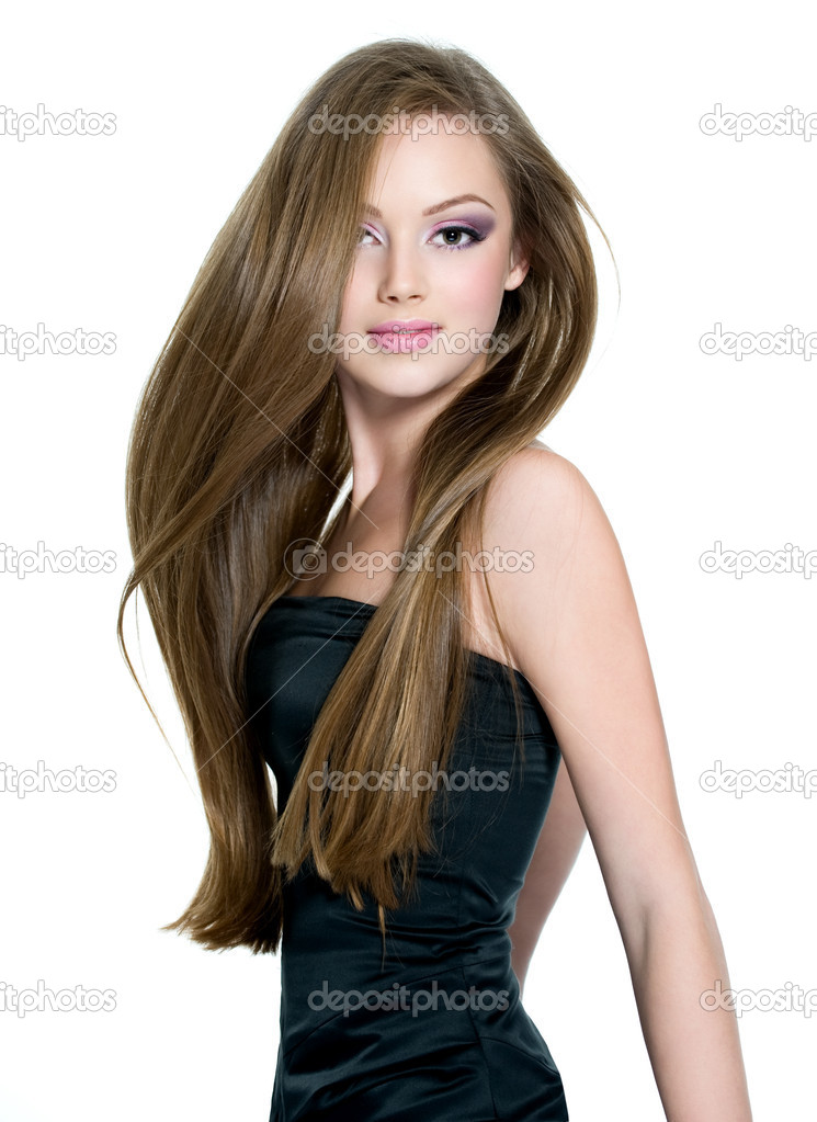 Beautiful teen girl with long straight hair — Stock Photo ... on Beautiful Teen Girl  id=85190