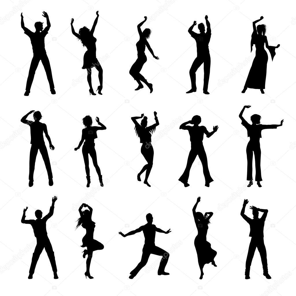 Tanzenden Silhouetten