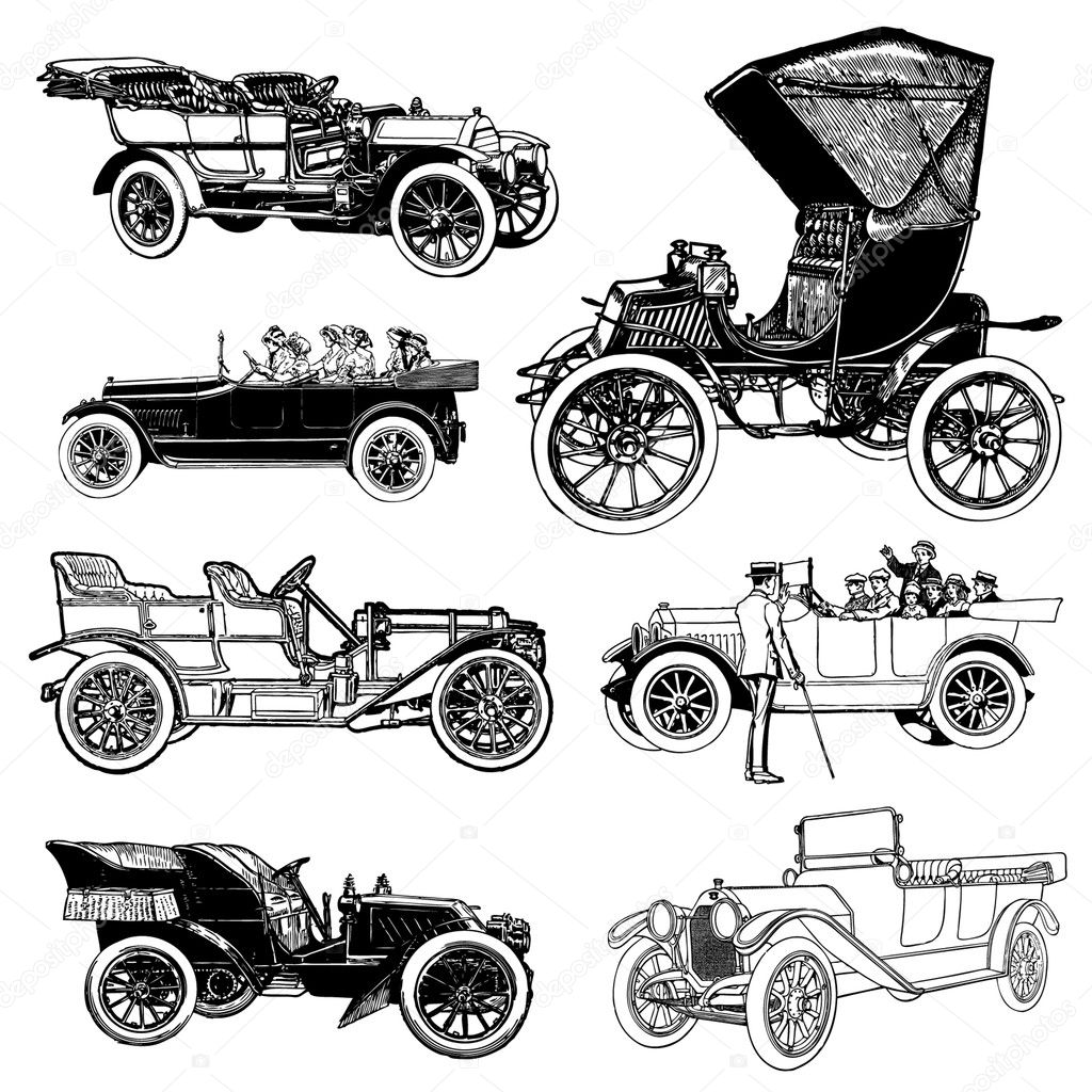 Vector Vintage Cars