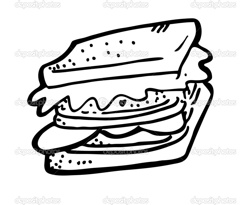 Image Gallery Sandwich Coloring Sketch Coloring Page
