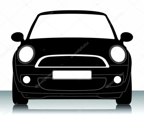 Векторная иллюстрация силуэт автомобиля — Векторное ...