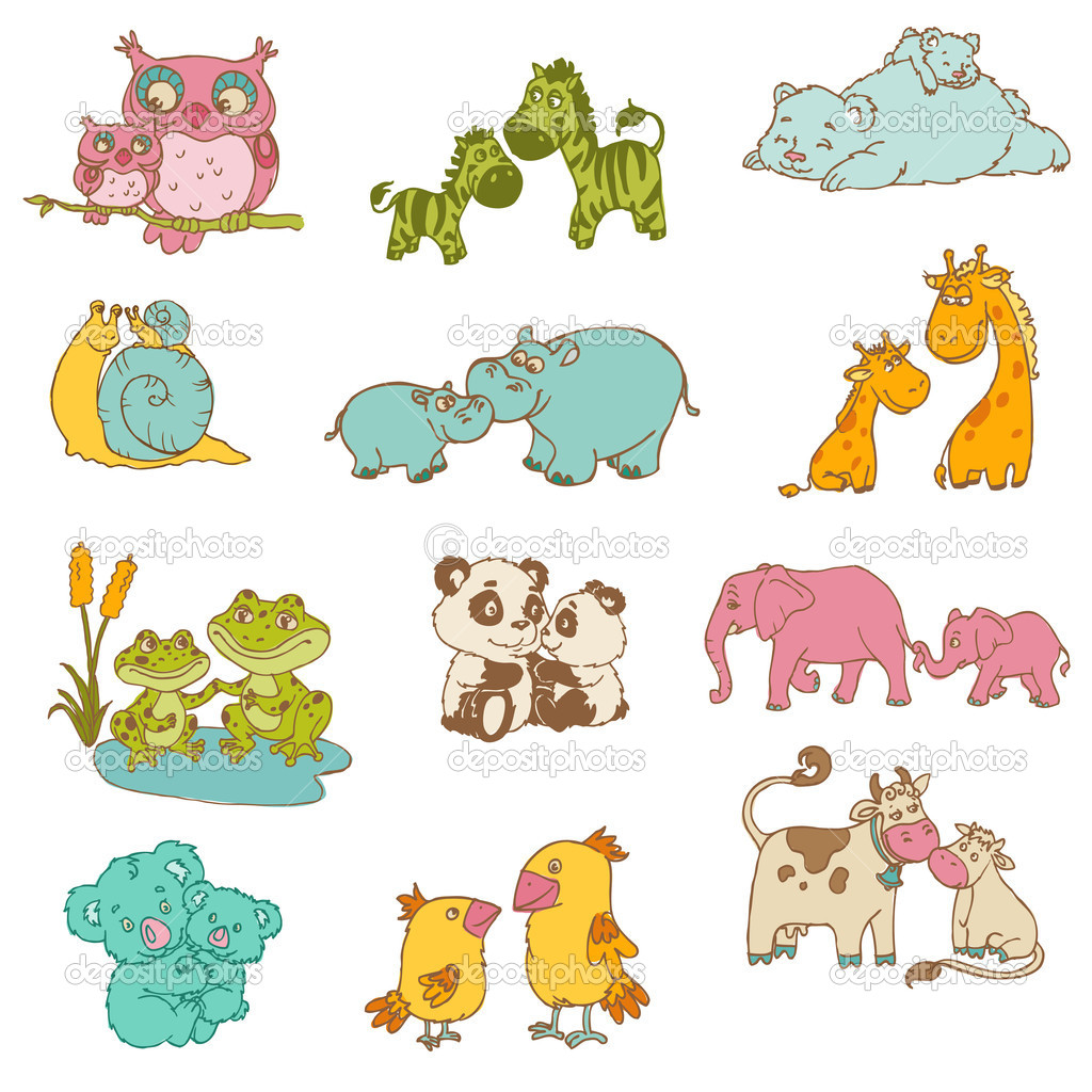 Baby And Mommy Animals