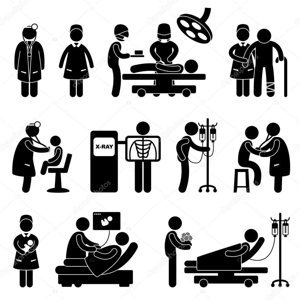 Doctor Nurse Hospital Clinic Medical Surgery Patient