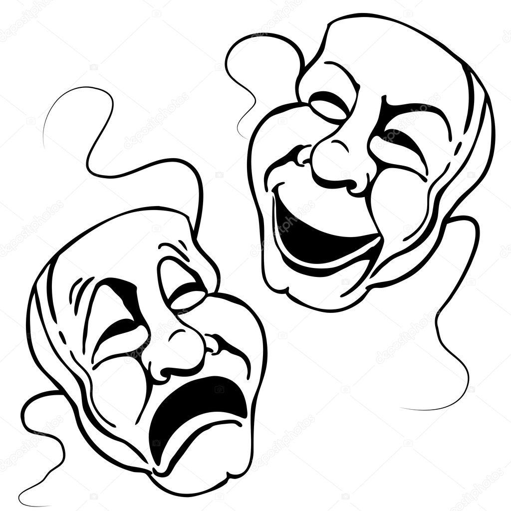 Ensemble De Masque De Theatre Romain