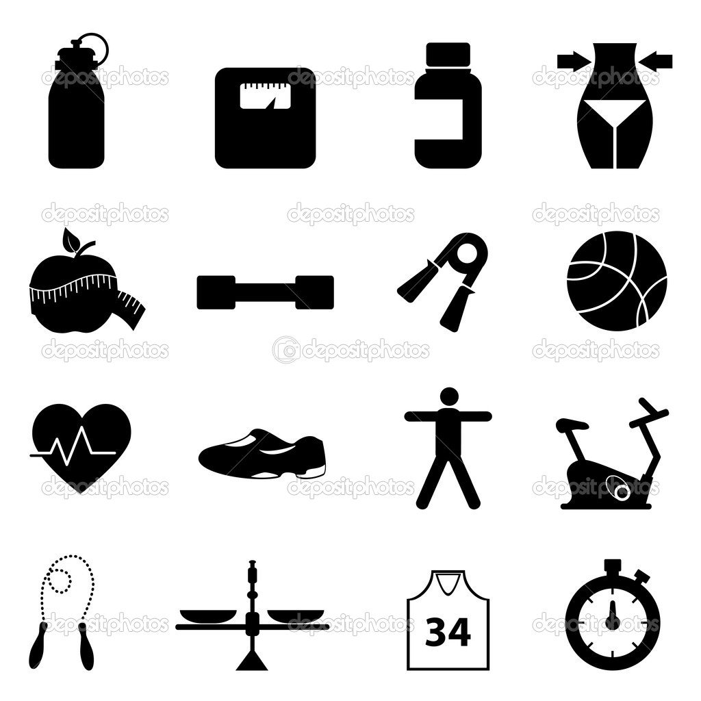 Fitness Andt Icon Set
