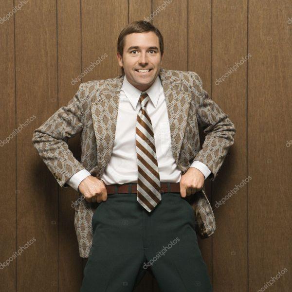 Человек в костюме ретро. — Стоковое фото © iofoto #9530467