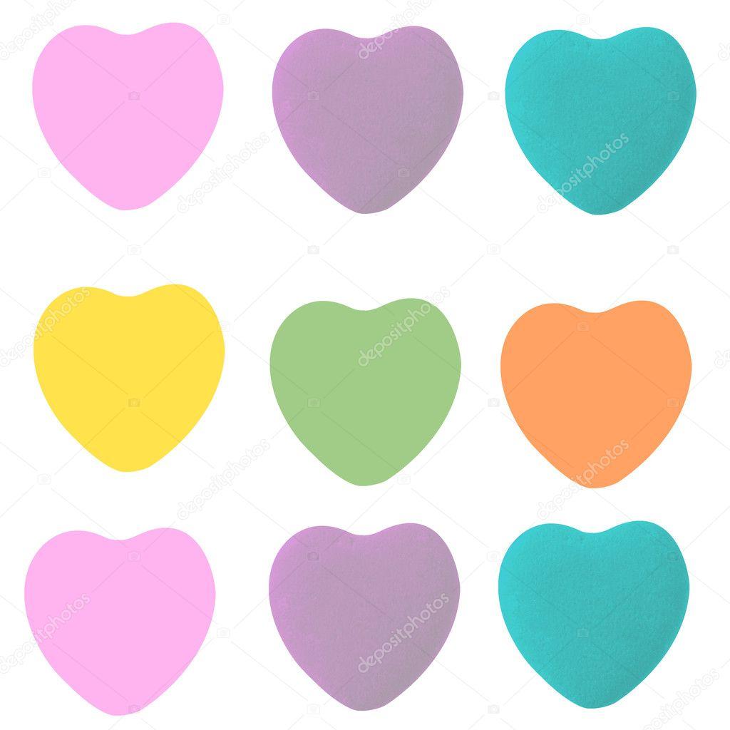 Conversation Heart Shapes Template
