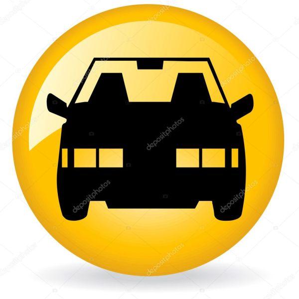 Логотип такси. Эмблема такси — Стоковое фото ...