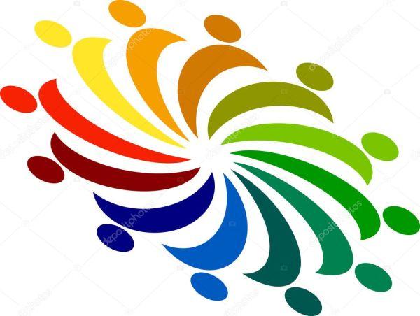 Народы логотип — Векторное изображение © magagraphics #9770260