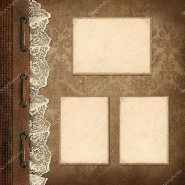 Картинки для семейного альбома Старинный фон страницы