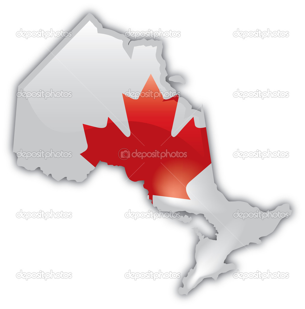 Detailed Map of Ontario     Stock Vector      joeiera  9518819 Detailed Map of Ontario     Stock Vector