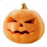 Halloween Pumpkin Scary Jack O Lantern Isolated On White Stock Photo Image By C Subbotina 10687100