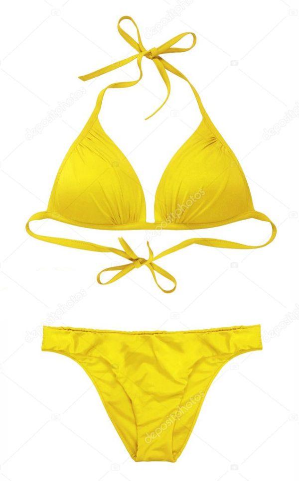 Желтый купальник — Стоковое фото © evaletova #10510593