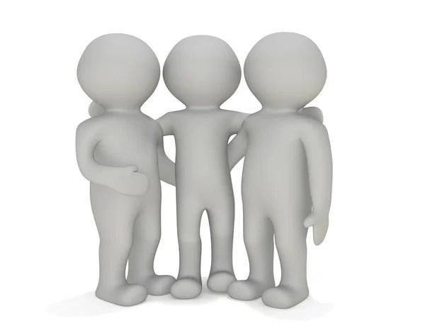 3D маленьких людей - лучшая группа — Стоковое фото © Art3d ...