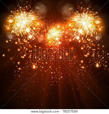 Happy New Year Celebration Background Fireworks  Easy All Editable     Happy New Year celebration background fireworks easy all editable poster   ID  78207599