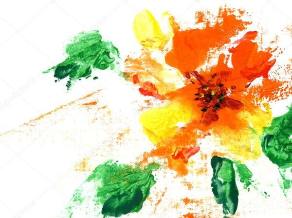 Крашеный абстрактный цветок — Стоковое фото © popovaphoto ...