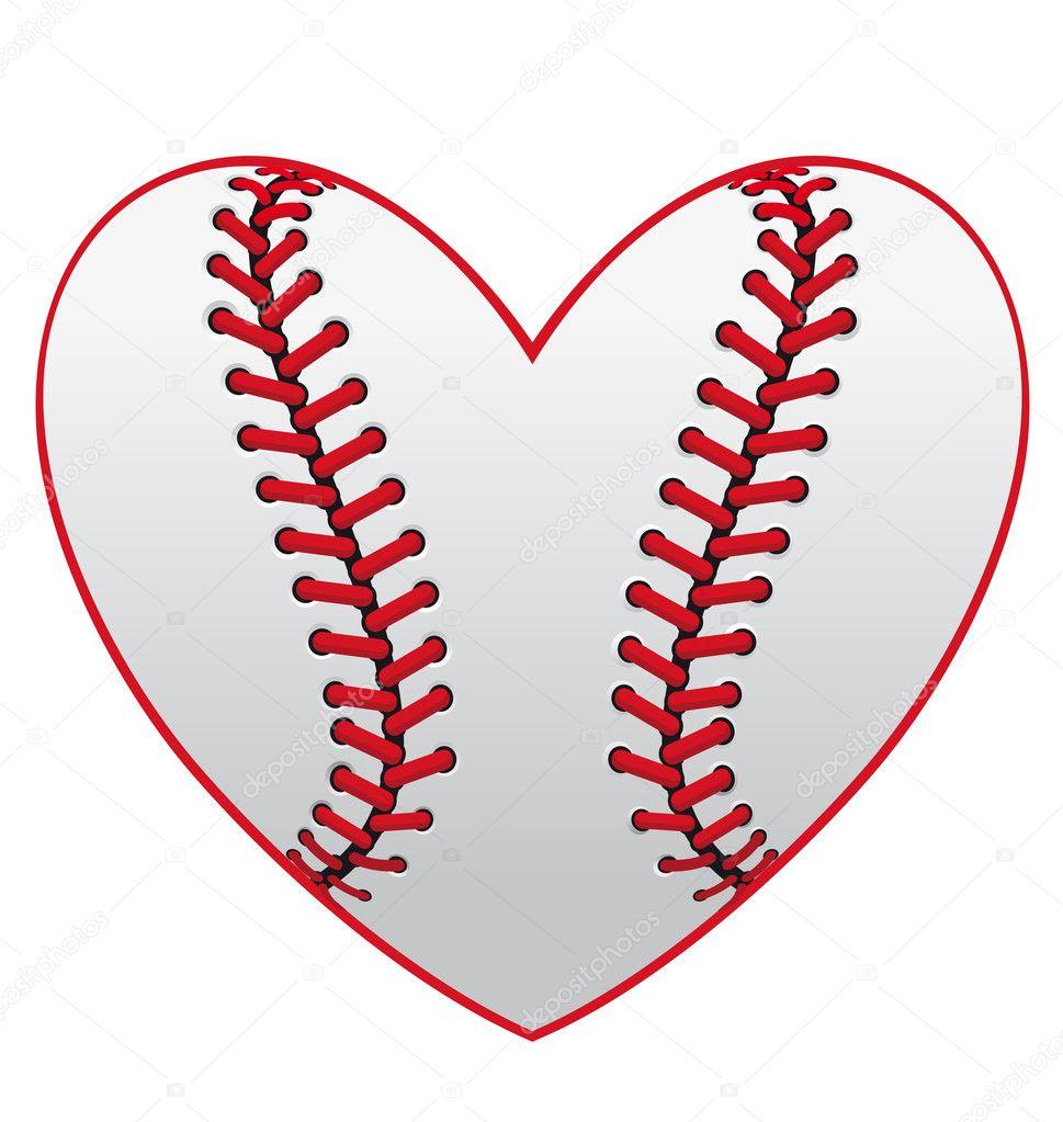 Download Baseball heart — Stock Vector © Seamartini #10932731