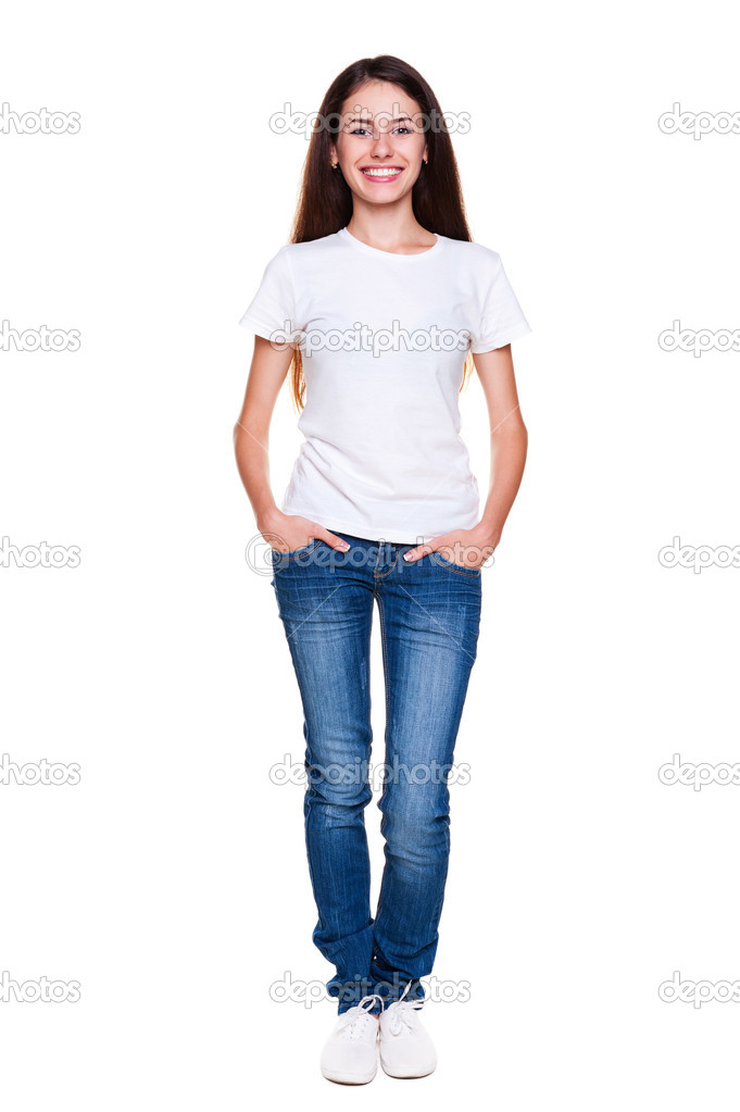 Man In Jeans And T Shirt