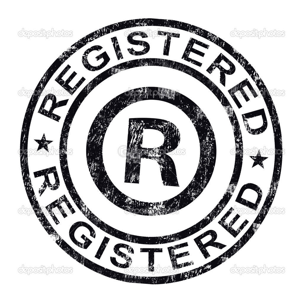 Registered Stamp Shows Copyright Or Trademark