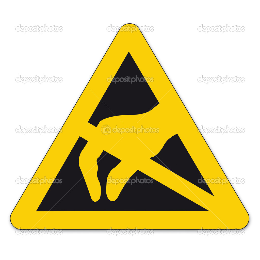 Safety Signs Warning Triangle Sign Bgv Vector Pictogram