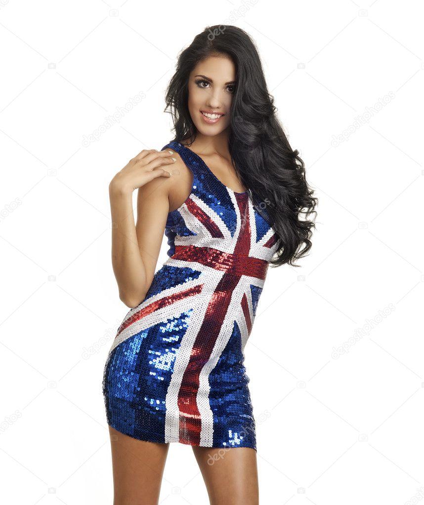 British Flag Sequin Dress