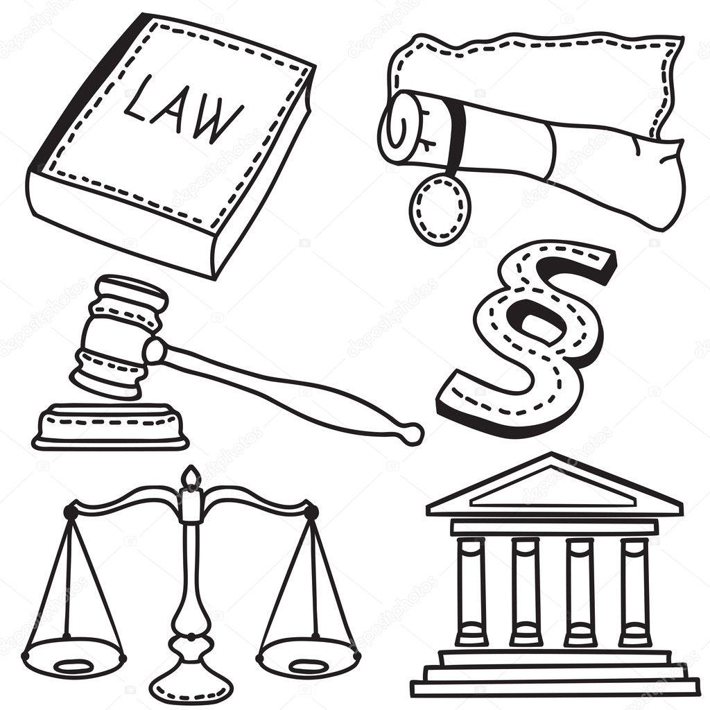 Illustration Of Judicial Icons