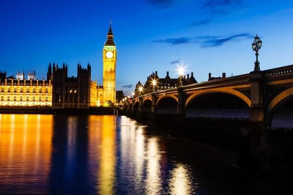 Біг-Бен і будинку парламенту в нічний час, Лондон, Велика ...