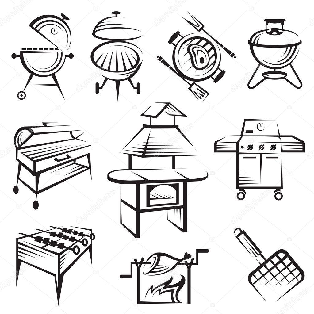 Set Of Barbecue Design