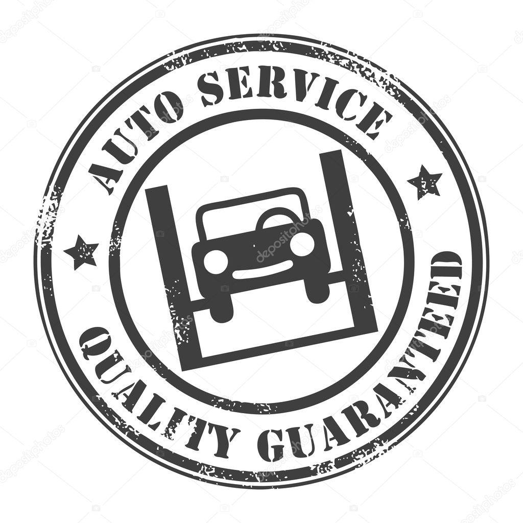 Car Service Stamp