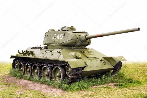 Танк СССР легендарный Т-34 (85) — Стоковое фото ...