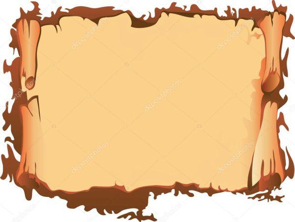Свиток старого пергамента — Векторное изображение ...