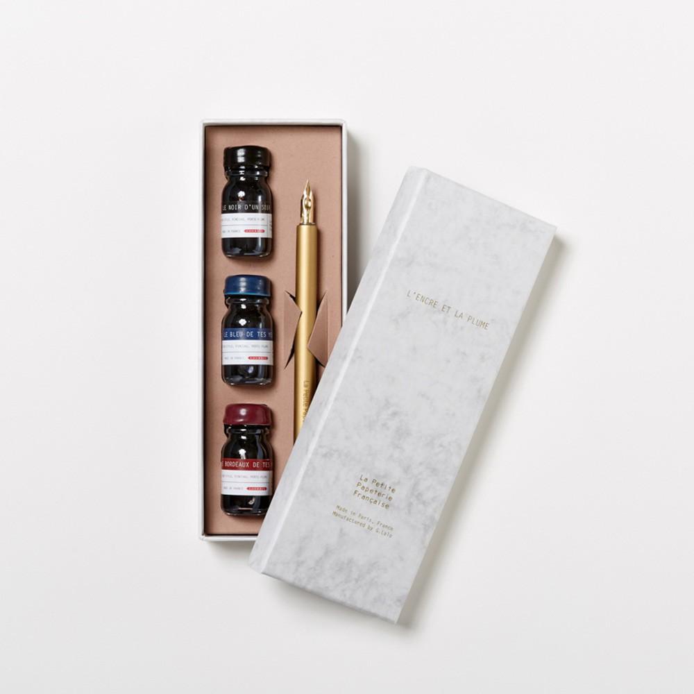 La Petite Papeterie Française Caja de tinta y pluma-product