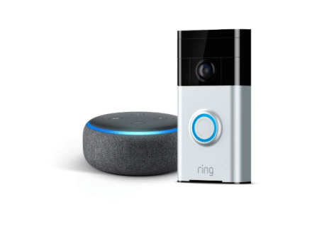 Video Ring Doorbell and Echo Dot