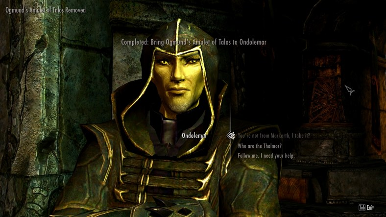 [Skyrim] His name is Ondolemar if you want to find him in the game. skyrim