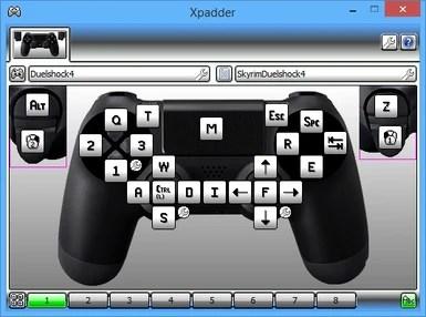 Skyrim XPadder Duelshock 4 Controller Config at Skyrim ...