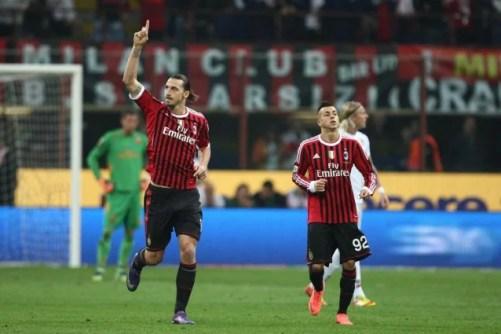 Milan-Roma 2-1, Ibrahimovic ribalta il vantaggio di Osvaldo