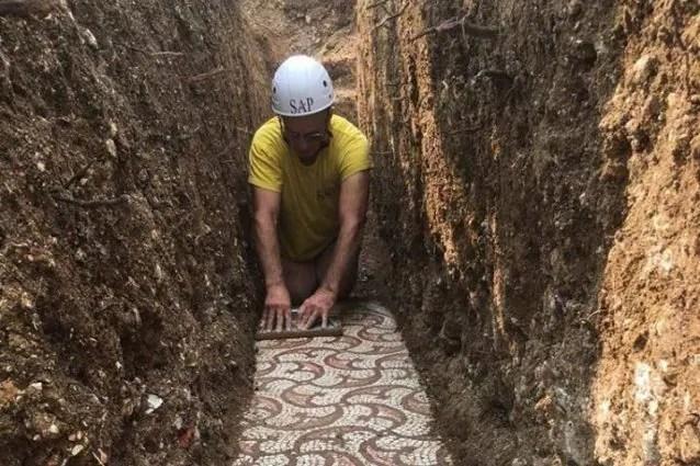Mosaico di epoca romana scoperto in Valpolicella: I vigneti lo ...