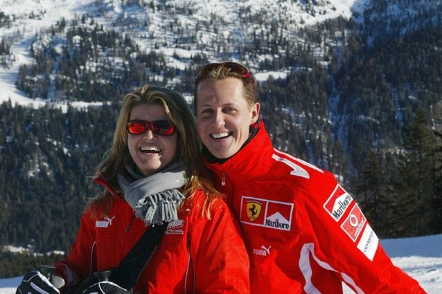 Michael Schumacher with his wife Corinna - Getty Images